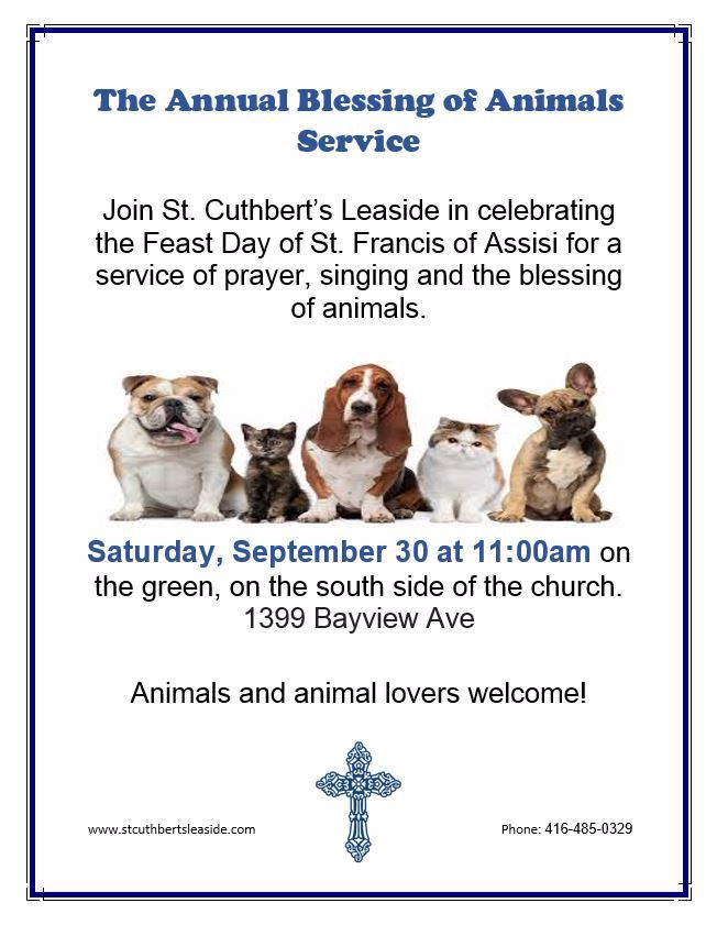 annual blessing of animal poster 2017 updated